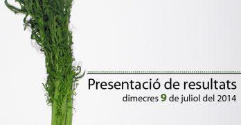 Documentació presentació de resultats del projecte I (2013-2014)